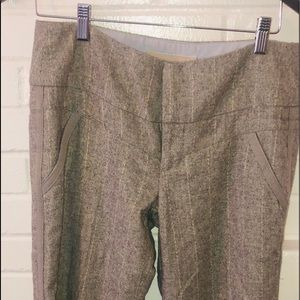Anthropologie wool gray dress pants